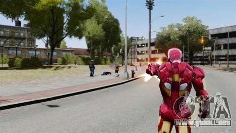 Hierro hombre IV v 2.0 para GTA 4 adelante de pantalla