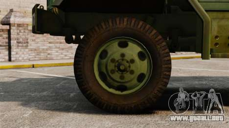 Militar básica del carro AM General M35A2 1950 para GTA 4 vista interior