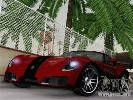 Devon GTX 2010 para GTA San Andreas vista hacia atrás