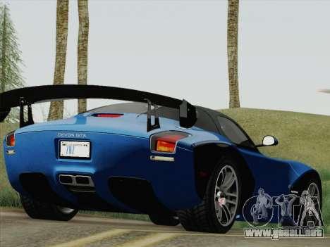Devon GTX 2010 para GTA San Andreas left