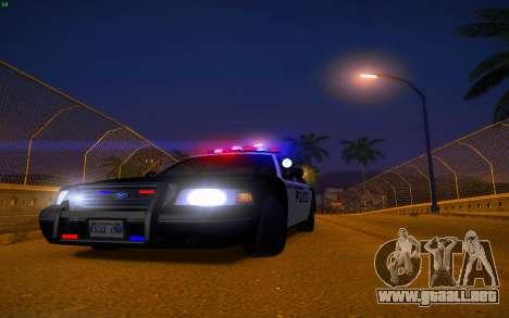 ENBS V3 para GTA San Andreas décimo de pantalla
