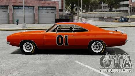 Dodge Charger 1969 General Lee v2 para GTA 4 left