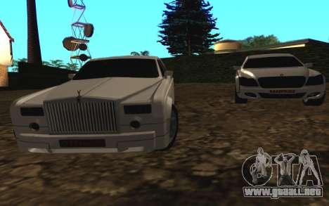 Rolls-Royce Phantom v2.0 para GTA San Andreas vista posterior izquierda