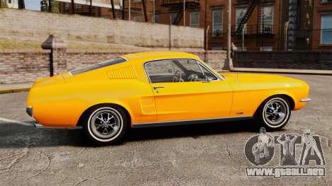 Ford Mustang 1967 Classic para GTA 4 left