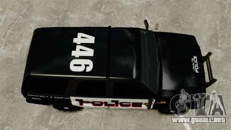 Cabalgata de patrulla para GTA 4 visión correcta