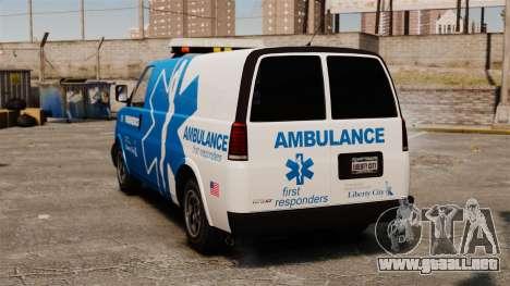 Ambulancia de Speedo LCEMS para GTA 4