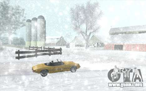 Snow San Andreas 2011 HQ - SA:MP 1.1 para GTA San Andreas sexta pantalla