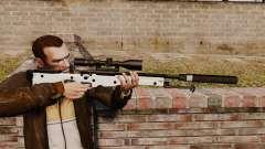 AW L115A1 rifle de francotirador con un silenciador v1 para GTA 4