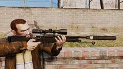 AW L115A1 rifle de francotirador con un silenciador v4 para GTA 4