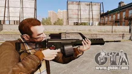 Игра Grand Theft Auto 4. Оружие для GTA 4. Штурмовая винтовка H&K MG