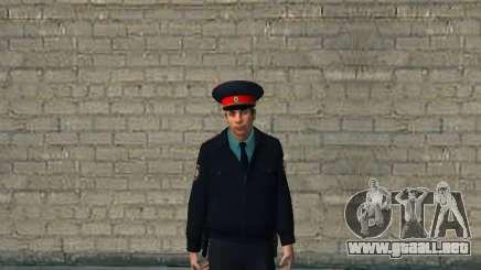 El capitán del ministerio ruso del INTERIOR para GTA San Andreas