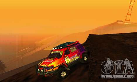 UAZ Patriot juicio para GTA San Andreas vista hacia atrás