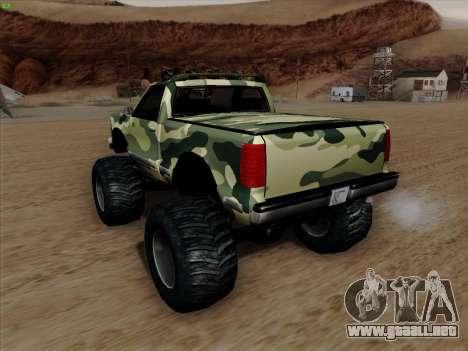 Camuflaje para Monster para vista inferior GTA San Andreas