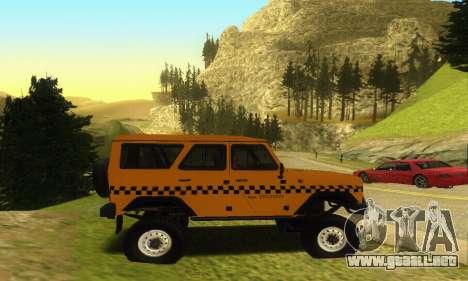 UAZ Hunter Taxi para visión interna GTA San Andreas