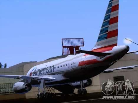 Airbus A319-112 American Airlines para vista inferior GTA San Andreas