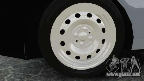Fiat Palio EDX 1997 para GTA 4 vista hacia atrás