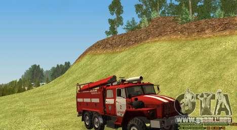 Ural 4320 bombero para GTA San Andreas