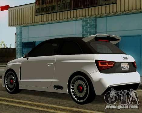 Audi A1 Clubsport Quattro para GTA San Andreas vista posterior izquierda