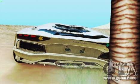 Lamborghini Aventador LP700 para las ruedas de GTA San Andreas