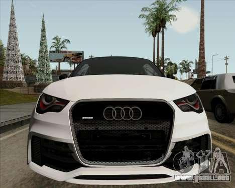 Audi A1 Clubsport Quattro para visión interna GTA San Andreas