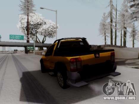 Fiat Strada Adv Locker para GTA San Andreas vista posterior izquierda