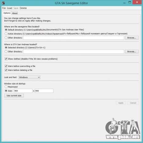 Savegame Editor v3.2 para GTA San Andreas tercera pantalla