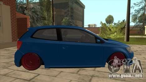 Volkswagen Polo GTi Euro Stance 2012 para GTA San Andreas vista posterior izquierda