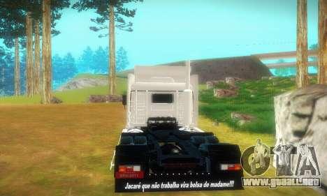 TopLine Scania 113 h 360 para la visión correcta GTA San Andreas