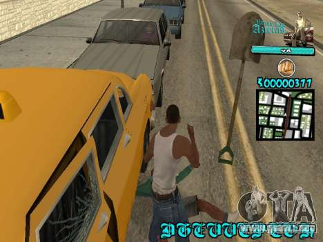 C-HUD by Kerro Diaz [ Aztecas ] para GTA San Andreas sucesivamente de pantalla