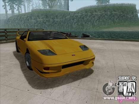 Super GT HD para GTA San Andreas vista hacia atrás