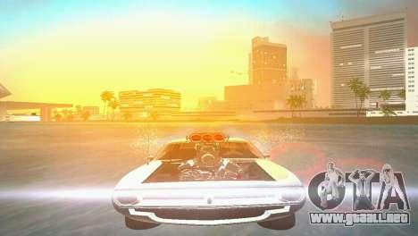 Plymouth Barracuda Supercharger para GTA Vice City visión correcta