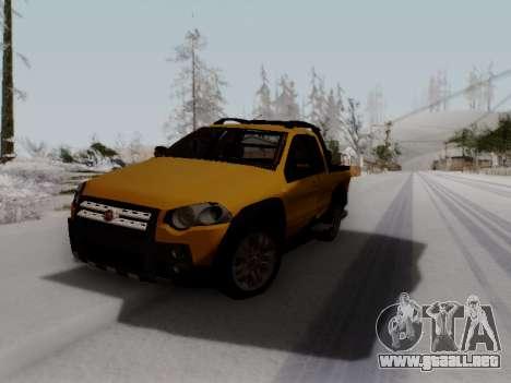 Fiat Strada Adv Locker para GTA San Andreas vista hacia atrás