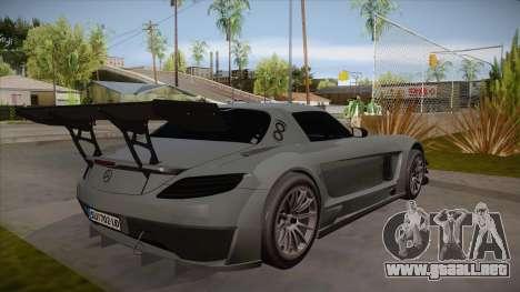 Mercedes-Benz SLS (AMG) GT3 para GTA San Andreas vista hacia atrás