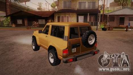 Nissan Patrol Y60 para GTA San Andreas vista posterior izquierda