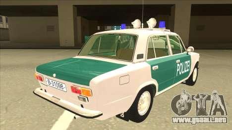 VAZ 21011 DDR police para la visión correcta GTA San Andreas