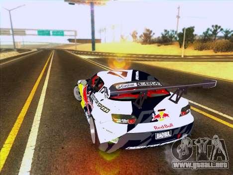 Mazda RX-8 NFS Team Mad Mike para GTA San Andreas vista posterior izquierda