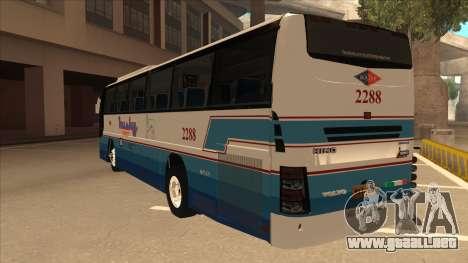 Husky Tours 2288 para GTA San Andreas vista hacia atrás