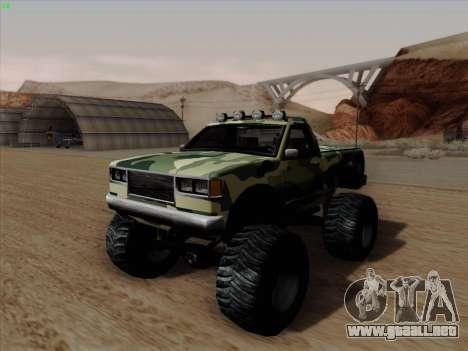 Camuflaje para Monster para GTA San Andreas vista posterior izquierda