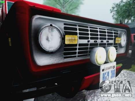 Ford Bronco 1966 para visión interna GTA San Andreas