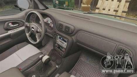 Chevrolet TrailBlazer SS 2008 para GTA 4 vista interior