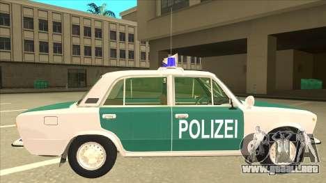 VAZ 21011 DDR police para GTA San Andreas vista posterior izquierda