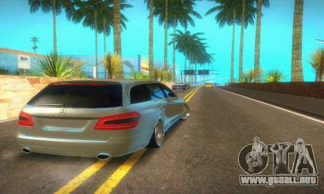 Mercedes-Benz E350 Wagon para GTA San Andreas vista hacia atrás