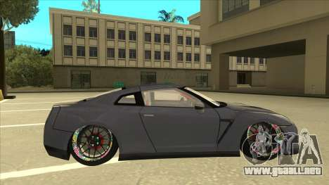 Nissan GT-R R35 Camber Killer para GTA San Andreas vista posterior izquierda