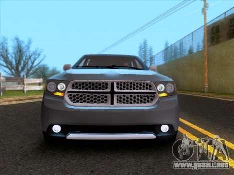 Dodge Durango Citadel 2013 para GTA San Andreas vista hacia atrás