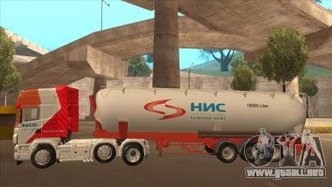 Scania R620 Nis Kamion para visión interna GTA San Andreas