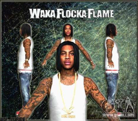 Waka Flocka Flame skin para GTA San Andreas tercera pantalla