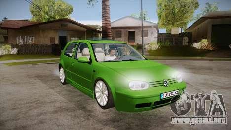 Volkswagen Golf Mk4 para GTA San Andreas vista hacia atrás
