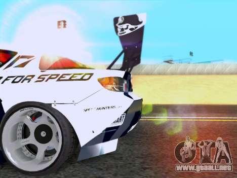 Mazda RX-8 NFS Team Mad Mike para la visión correcta GTA San Andreas