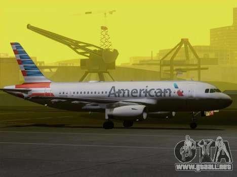 Airbus A319-112 American Airlines para las ruedas de GTA San Andreas