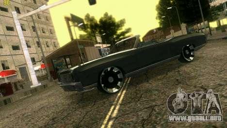 Chevy Monte Carlo para GTA Vice City vista posterior